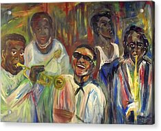 Nawlins Jazz Acrylic Print by Made by Marley
