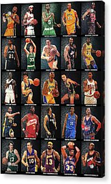 Nba Legends Acrylic Print