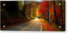 Nc Mountain Fall Drive Acrylic Print
