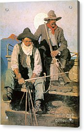 N.c. Wyeth: The Pay Stage Acrylic Print by Granger