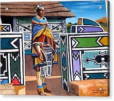 Ndebele Color Acrylic Print