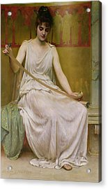 Neaera Reading A Letter From Catullus Acrylic Print by Henry John Hudson