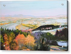 Acrylic Print featuring the painting Near Clawddnewydd In North Wales. by Harry Robertson