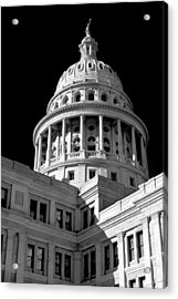 Near Infrared Image Of The Texas State Capitol Acrylic Print by David Thompson