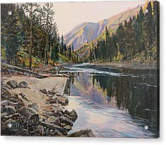 Acrylic Print featuring the painting Near Smith Gulch by Steve Spencer