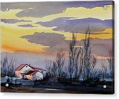 Near Sundown Acrylic Print by Art Scholz