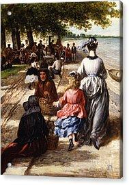 Near The Beach, Gloucester, 1877 Acrylic Print