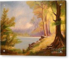 Near The Lake Acrylic Print by Cilinha
