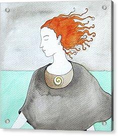 Near The Sea Acrylic Print by Clary Sage Moon