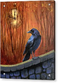 Acrylic Print featuring the painting Nearing Midnight by Terry Webb Harshman