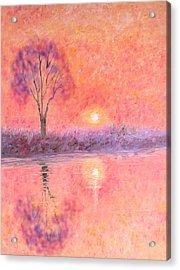 Acrylic Print featuring the digital art Nearly Twilight by Elizabeth Lock