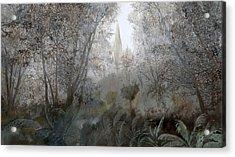 Nebbia Nel Bosco Acrylic Print