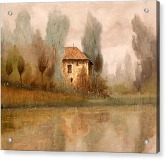 Nebbiolina Autunnale Acrylic Print by Guido Borelli