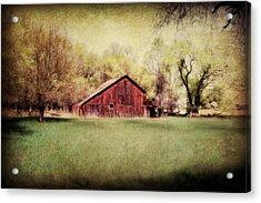 Nebraska Barn Acrylic Print by Julie Hamilton