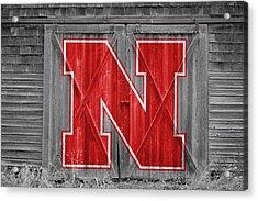 Nebraska Cornhuskers Barn Doors Acrylic Print