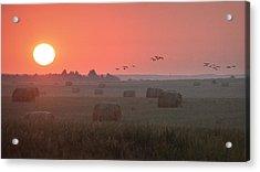 Acrylic Print featuring the photograph Nebraska Mornings.. by Al Swasey