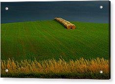 Acrylic Print featuring the photograph Nebraska Rainy Day by Al Swasey