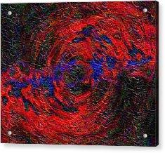 Acrylic Print featuring the digital art Nebula 1 by Charmaine Zoe