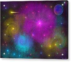 Acrylic Print featuring the photograph Nebula Wars by Bernd Hau