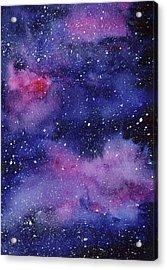 Nebula Watercolor Galaxy Acrylic Print