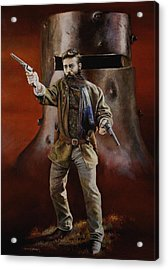 Ned Kelly Acrylic Print by Chris Collingwood