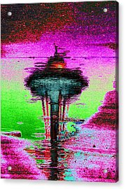 Needle In A Raindrop Stack Acrylic Print by Tim Allen