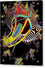 Needle In Fractal 2 Acrylic Print by Tim Allen