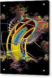 Needle In Fractal 4 Acrylic Print by Tim Allen