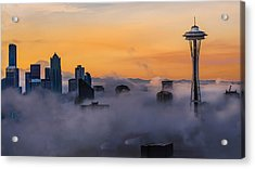 Needling The Fog Acrylic Print
