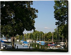 Neenah Harbor Acrylic Print by Jack G  Brauer