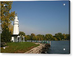 Acrylic Print featuring the photograph Neenah Light House by Jack G  Brauer