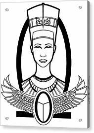 Nefertiti Acrylic Print by Alysa Sheats