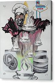 Negative Genesis Acrylic Print by Mag Nus