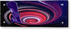 Negative Thoughts Are Like Black Holes Acrylic Print by Penfield Hondros