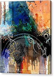 Negative Thoughts Invasion Acrylic Print by Bedros Awak