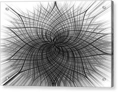 Negativity Acrylic Print by Carolyn Marshall