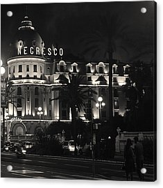 Negresco At Night Acrylic Print by Ron Dubin