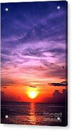 Negril Sunset Acrylic Print