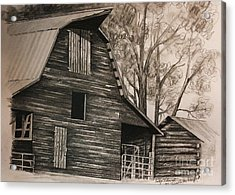 Neighborhood Barn Acrylic Print by Carolyn Valcourt