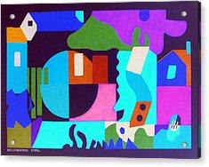 Neighborhood Stroll Acrylic Print by Stephen Davis