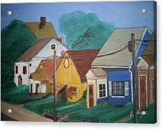 Acrylic Print featuring the painting Neighbors by Barbara Hayes