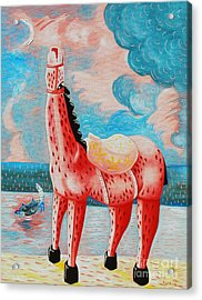 Neighing Acrylic Print by Jose Luis Montes