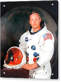 Neil Armstrong Acrylic Print by Ericamaxine Price