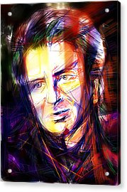 Neil Finn Acrylic Print by Russell Pierce