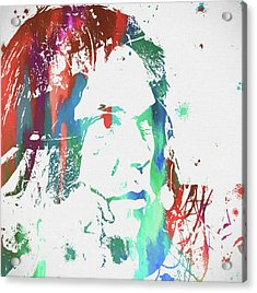 Neil Young Paint Splatter Acrylic Print