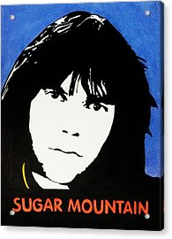 Neil Young Sugar Mountain Acrylic Print by Kenneth Regan