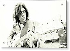 Neil Young Watercolor Acrylic Print