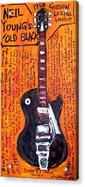 Neil Young's Old Black Acrylic Print by Karl Haglund