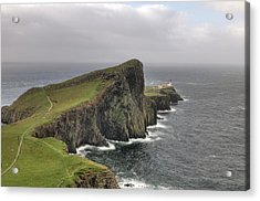 Acrylic Print featuring the photograph Neist Point Lighthouse In Isle Of Skye, Scotland by Michalakis Ppalis