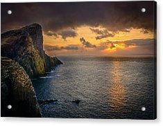 Neist Point Lighthouse Isle Of Skye Acrylic Print